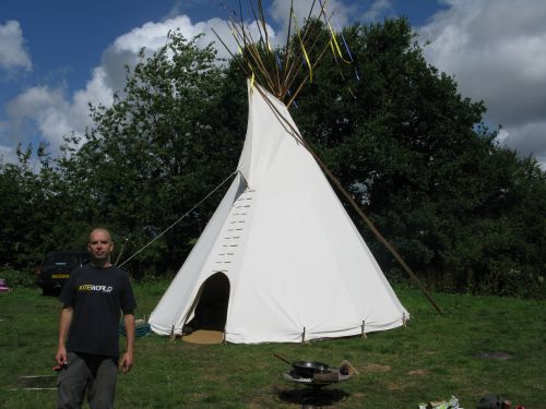 Rent a Tipi from mike; www.redtipi.co.uk